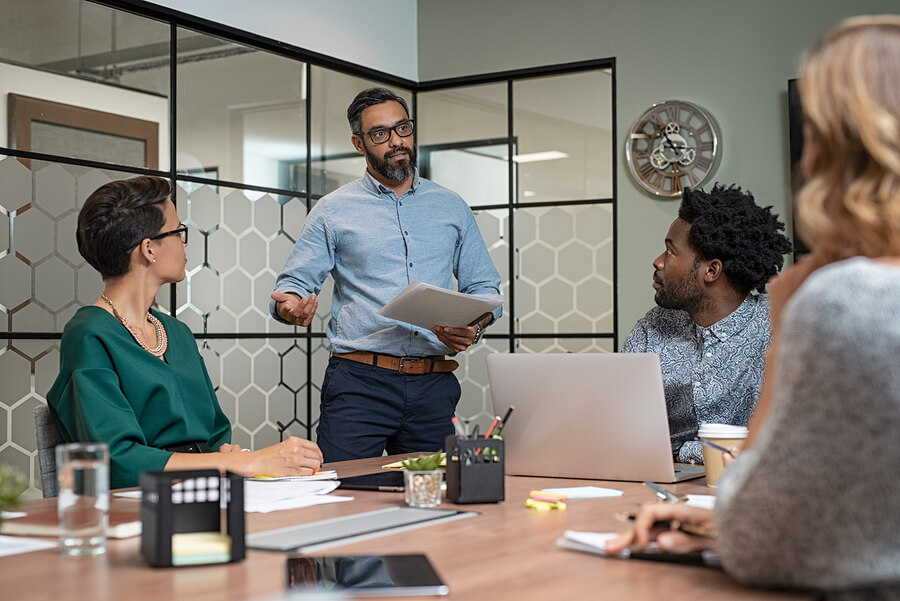 Reunião de negócios para planejamento estratégico