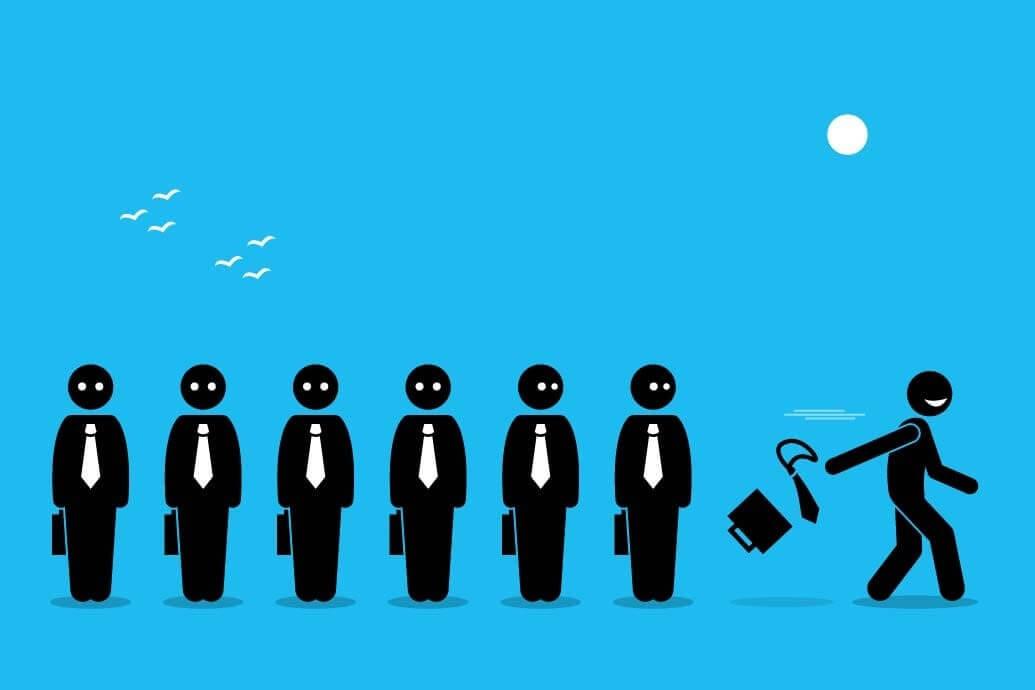 Funcionário pede o desligamento da empresa em busca de uma remuneração melhor em outra empresa