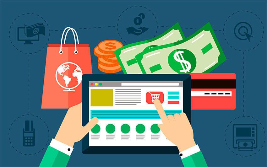 mescle vendas online e físicas