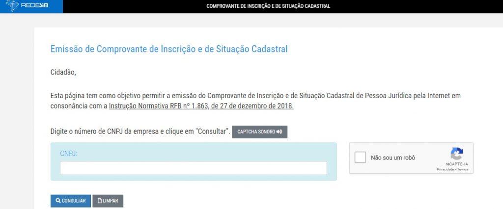 Confira o status do andamento do CNPJ no site da Redesim