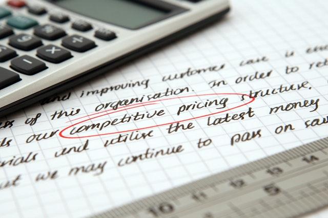 A precificação fornece embasamento para a elaboração de estratégias de competitividade.